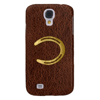 Golden Horseshoe & simulated Leather Samsung Galaxy S4 Case