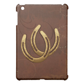 Golden Horseshoes Western  Cover For The iPad Mini