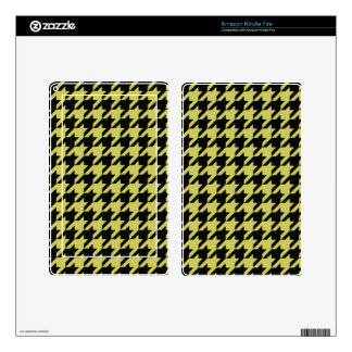 Golden Houndstooth 2 Kindle Fire Skin