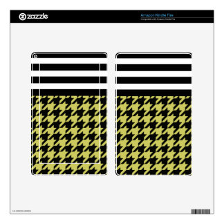 Golden Houndstooth w/ Stripes 2 Skin For Kindle Fire