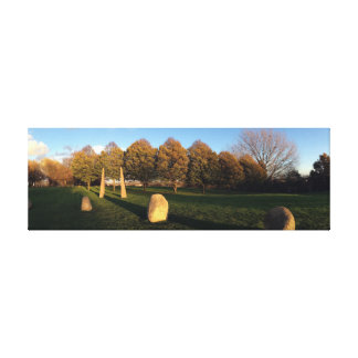 Golden Hour at the Stone Circle Canvas Print
