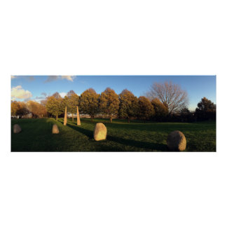 Golden Hour at the Stone Circle Posters