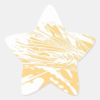 Golden hours star sticker
