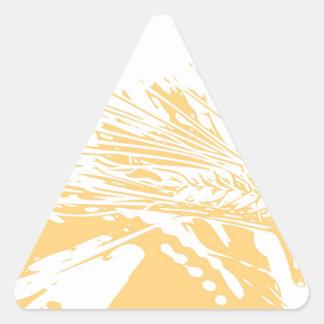 Golden hours triangle sticker
