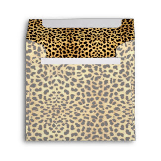 Golden Hues Cheetah Print Envelope