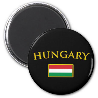 Golden Hungary 2 Inch Round Magnet