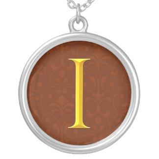 Golden I Monogram Jewelry
