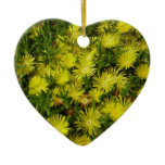 Golden Ice Plant Yellow Flowers Ceramic Ornament