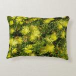 Golden Ice Plant Yellow Flowers Decorative Pillow