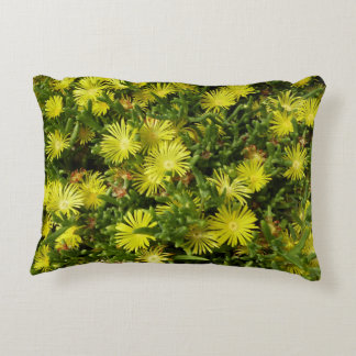 Golden Ice Plant Yellow Flowers Decorative Pillow