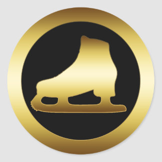 GOLDEN ICE SKATE CLASSIC ROUND STICKER