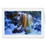 Golden Icefall - Smarts Brook No 1 Greeting Card