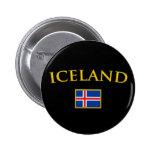 Golden Iceland 2 Inch Round Button