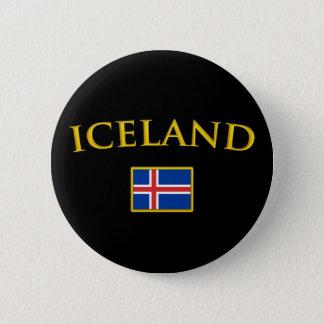 Golden Iceland Button
