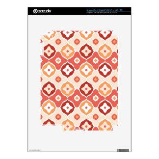 Golden ikat geometric pattern iPad 3 skin