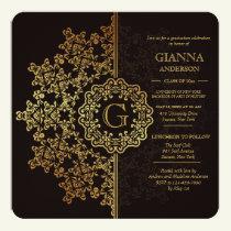 Golden Impression Graduation Invitation