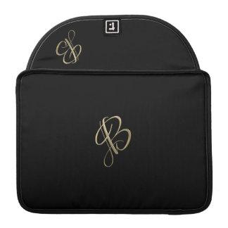 Golden initial B monogram MacBook Pro Sleeve
