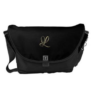 Golden initial L monogram Courier Bag