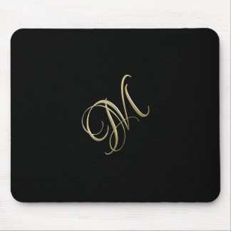 Golden initial M monogram Mouse Pad