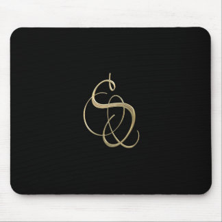 Golden initial S monogram Mouse Pad
