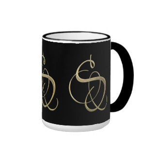 Golden initial S monogram Coffee Mug
