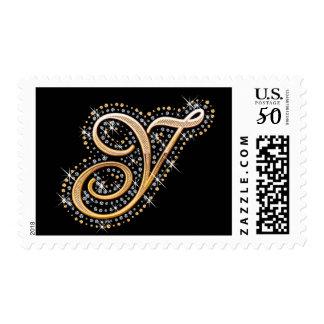 Golden Initial ''Y'' Stamp