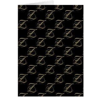 Golden initial Z monogram Stationery Note Card
