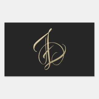 Golden initial Z monogram Stickers