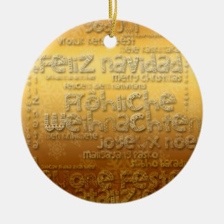 Golden International Weihnachten Navidad Ornament