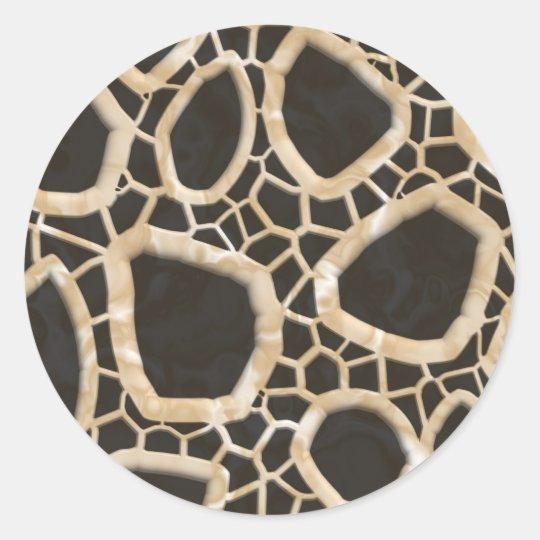 Golden Interwebs Classic Round Sticker