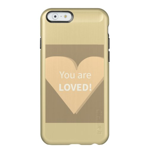 Golden iPhone Case with Heart