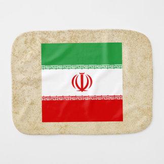 Golden Iran Flag Baby Burp Cloth