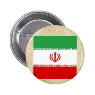 Golden Iran Flag Pinback Button