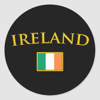 Golden Ireland Classic Round Sticker