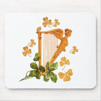 Golden Irish Harp Mouse Pad