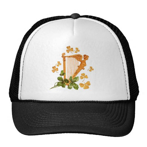 Golden Irish Harp Trucker Hat