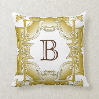 Golden Iron Gate Throw Pillow