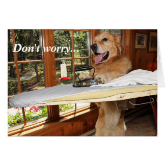 Golden Ironing Out Encouragement Card