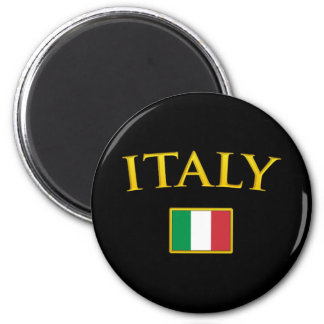 Golden Italy 2 Inch Round Magnet