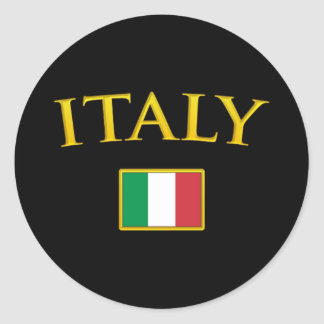 Golden Italy Classic Round Sticker