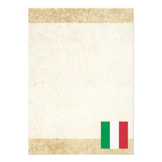 Golden Italy Flag Card