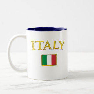 Golden Italy Two-Tone Coffee Mug
