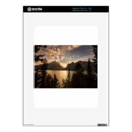 Golden Jenny Lake View Decal For iPad