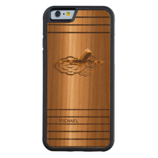 Golden Jet Airliner Aircraft Carved® Cherry iPhone 6 Bumper Case