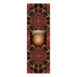 Golden Jewel against Red Tapestry, Custom Bookmark Mini Business Card