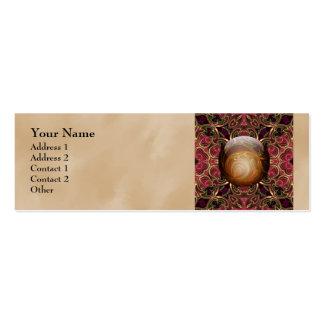 Golden Jewel against Red Tapestry, Custom Mini Business Card