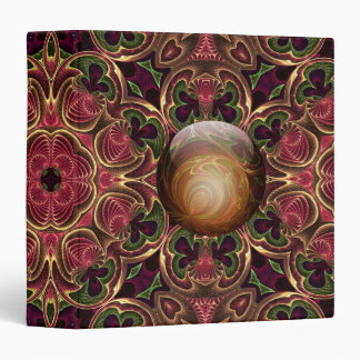 Golden Jewel against Red Tapestry Design 3 Ring Binder