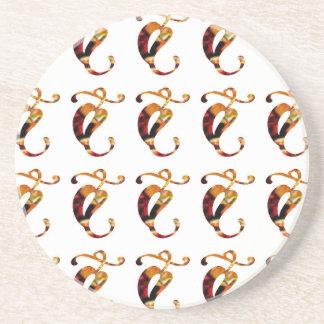 Golden JEWEL Decoration Pattern XMAS Diwali GIFTS Drink Coaster