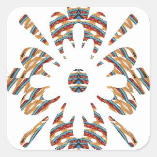 GOLDEN JEWEL - Elegant Print  LOWPRICE STORE Square Stickers