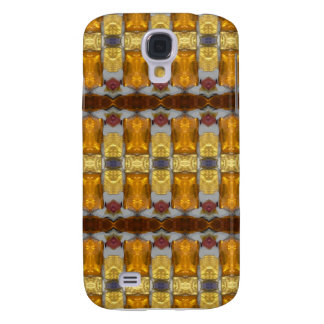 Golden Jewel Pattern-(faux) Galaxy S4 Cover